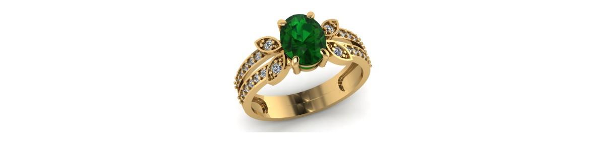 Damenringe mit Smaragd