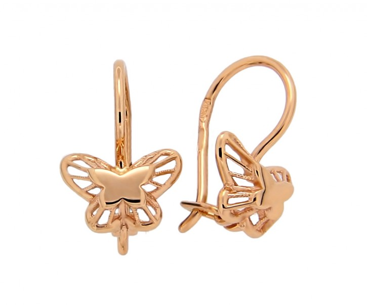 Ohrringe aus Gold 585, Schmetterlingsohrringe
