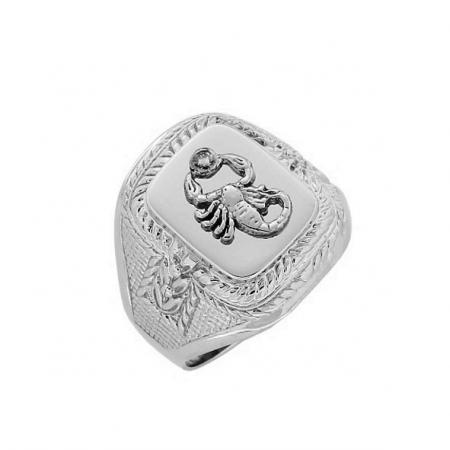 Мужское кольцо-печатка, серебро 925
