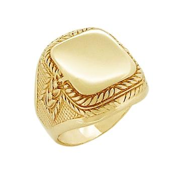 Мужское кольцо-печатка из золота