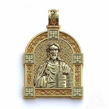 Anhänger Russische Ikone aus Gold