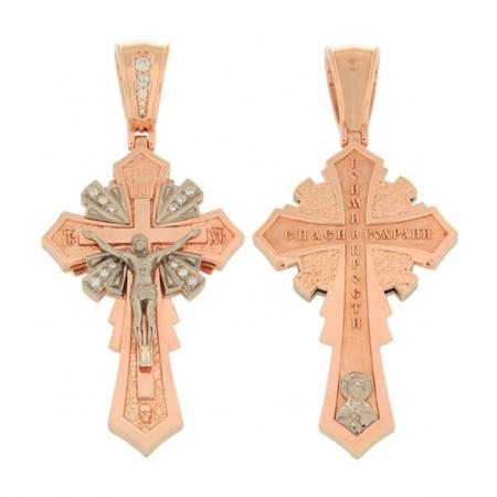 Kreuz Anhänger -orthodox- aus Gold