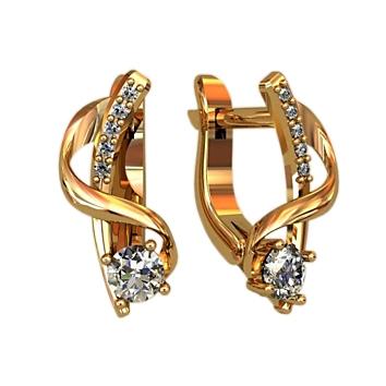 Ohrringe mit Brillanten aus Gold
