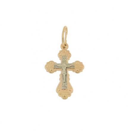 Kreuz Anhänger -orthodox- aus Rotgold
