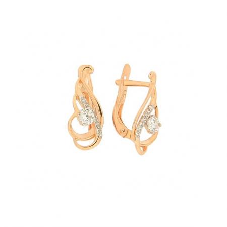 Ohrringe aus Rotgold