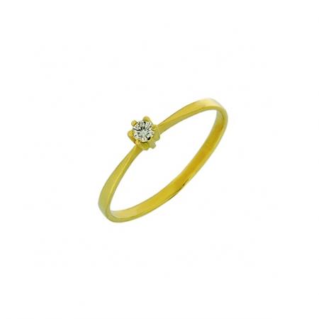 Damenring mit Brillant, Gelbgold 585