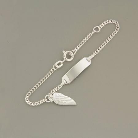 Детский браслет с пластиной, Серебро 925