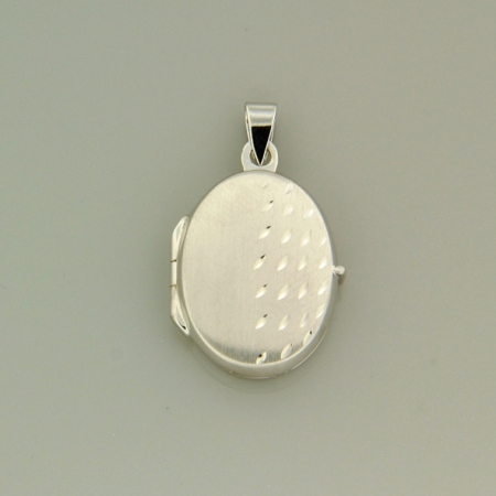 Открывающийся медальон из серебра