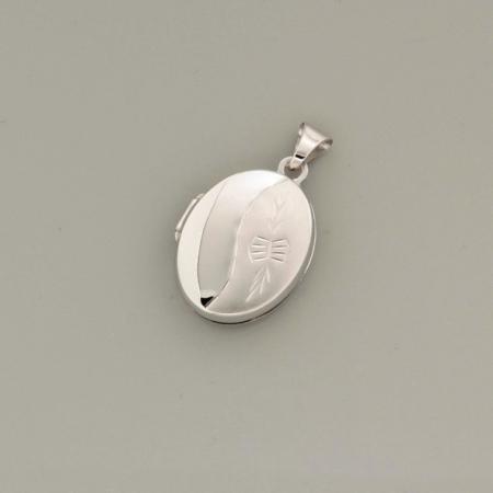 Foto Medallion Amulett Anhänger aus 925er Silber -rhodiniert-