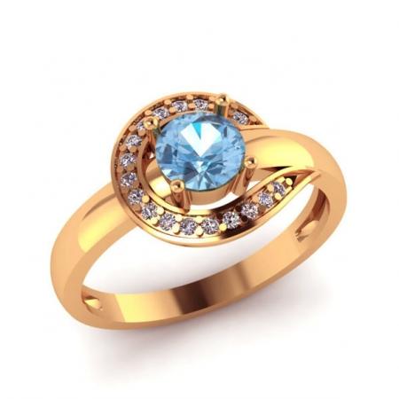 Золотое кольцо c Топазом