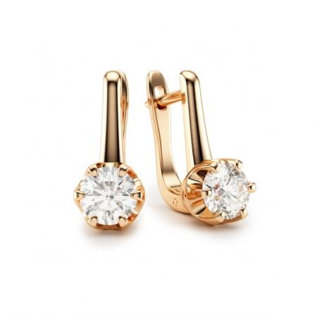 Ohrringe mit Brillant aus Gold