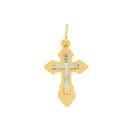Kreuz Anhänger aus Rotgold 585