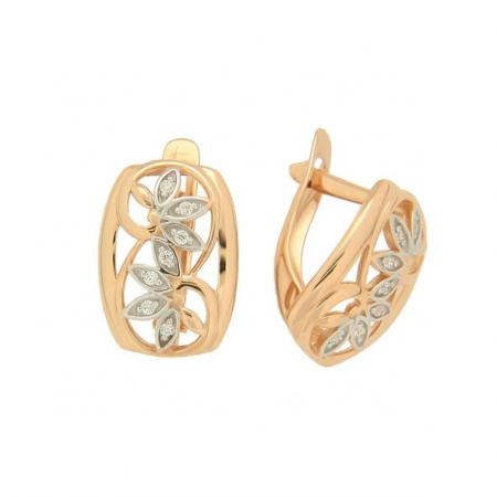 Damen Ohrringe aus Rotgold 585