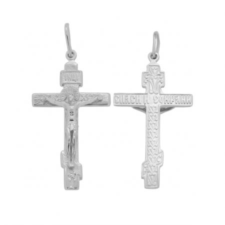 Серебряный крест с Распятием Христово