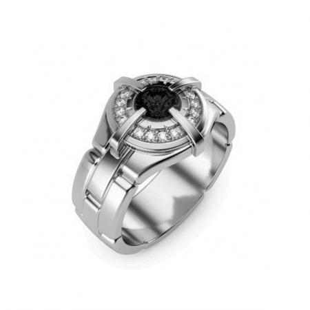 Мужское кольцо из серебро 925