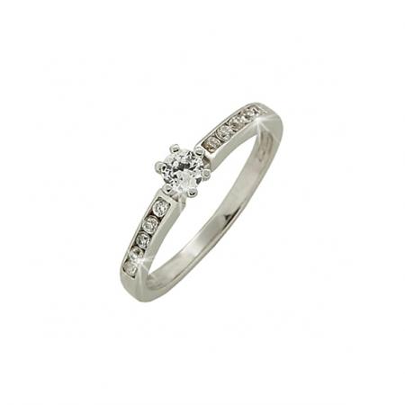 Кольцо из серебра c цирконием