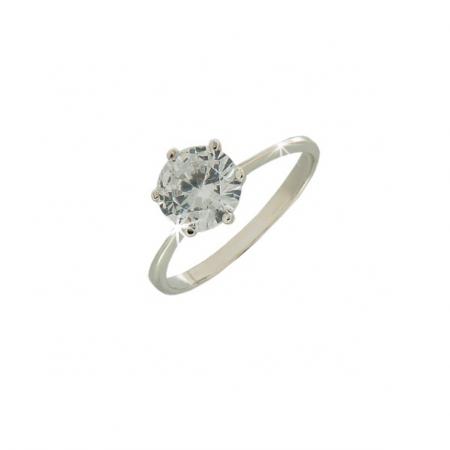 Кольцо из серебра 925 c цирконием