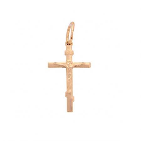 Kreuz Anhänger -orthodox- aus Rotgold 585