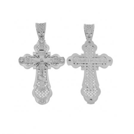 Kreuz Anhänger -orthodox- aus 925er Silber