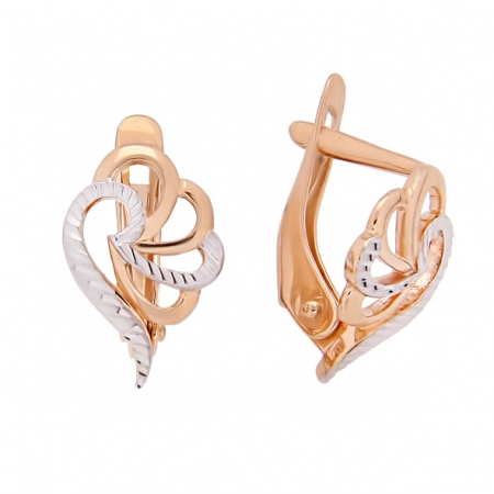 Damen Ohrringe Rotgold 585