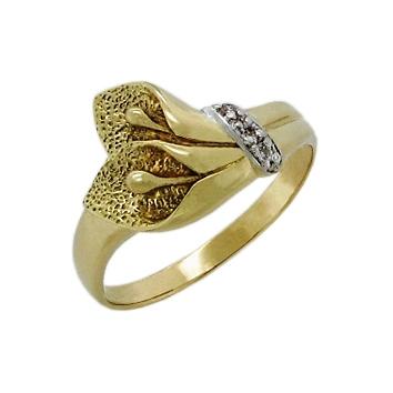 Женское кольцо из желтого золота 333 Калла