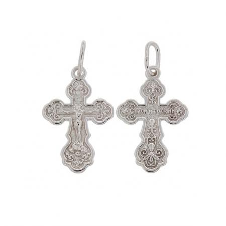 Крест нательный сребряный с распятием