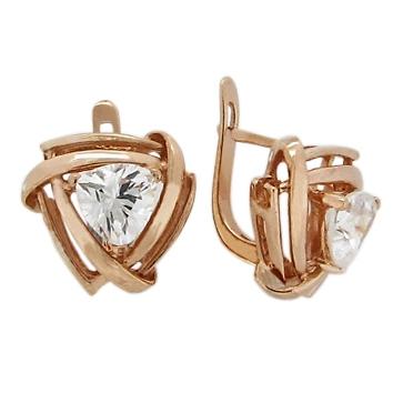 Ohrringe aus Gold mit Zirkonia