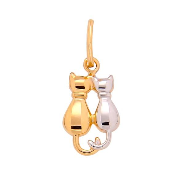 Золотая подвеска кошки