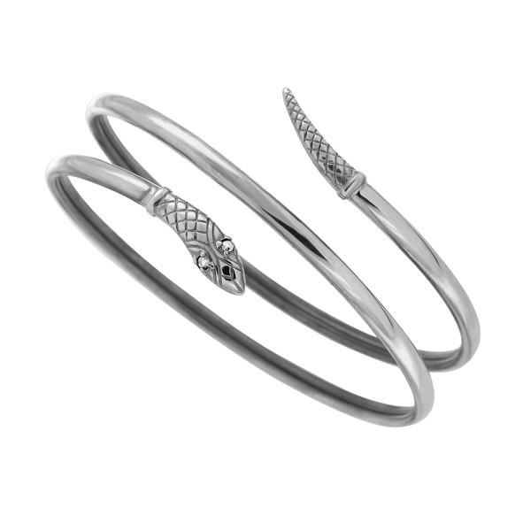 Armreif Schlangen aus 925er Silber