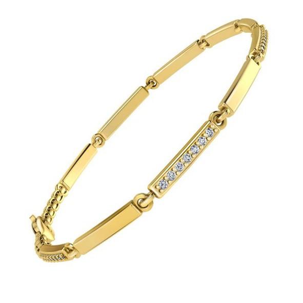 Золотой браслет с циркониями