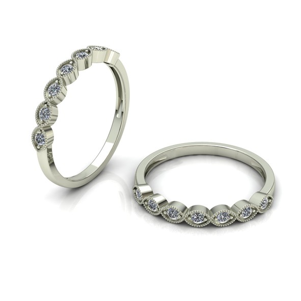 Кольцо с бриллиантами 20(63) / Белое золото / 333