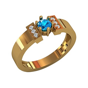 Женское кольцо из золота с топазом