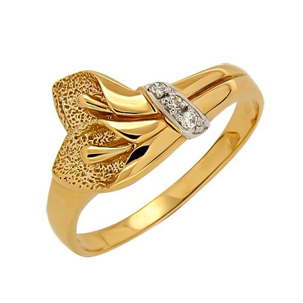 Женское кольцо из золота // Калла