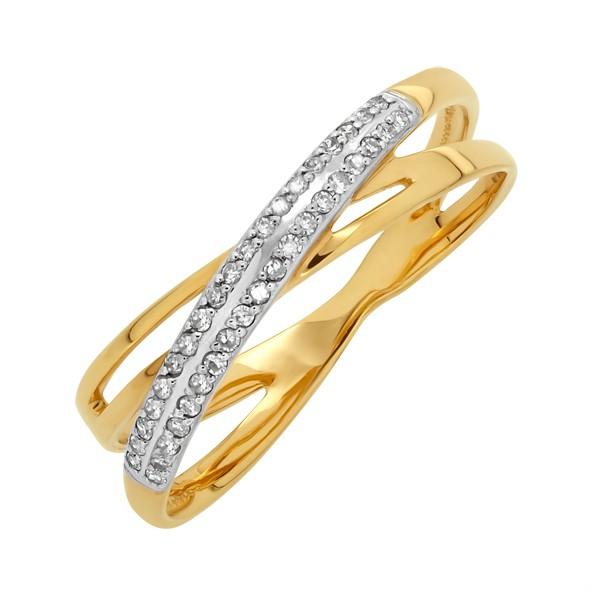 Кольцо с бриллиантами из русского золота 585