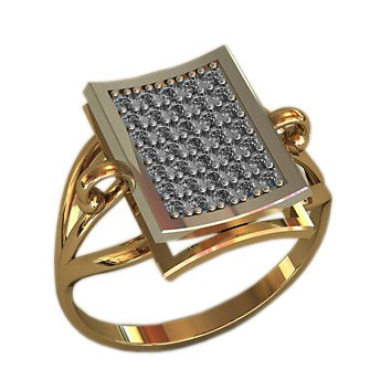 Кольцо из золота c цирконием Сваровски ЭЛЕМЕНТ