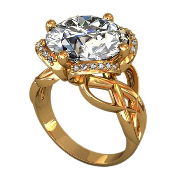 Женское кольцо из золото