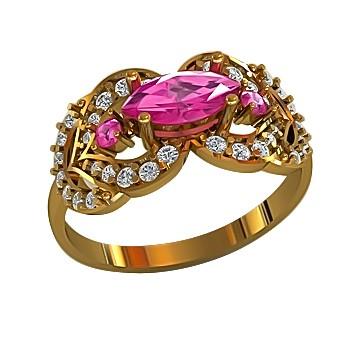 Кольцо из золота c цирконием