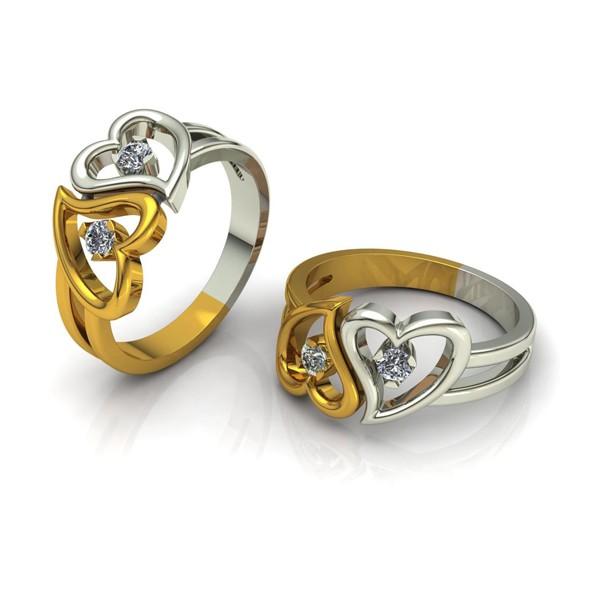 Herz-Ring mit Brillanten