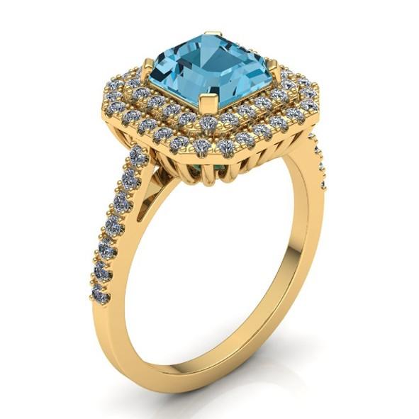 Ring mit Topas und Diamanten