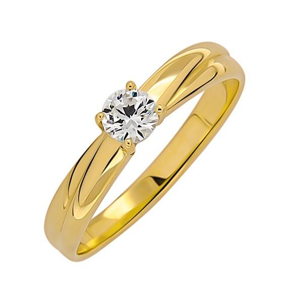Damenring aus Gelbgold