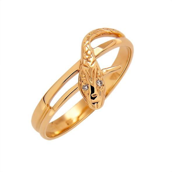 Кольцо с камнями из золота 333