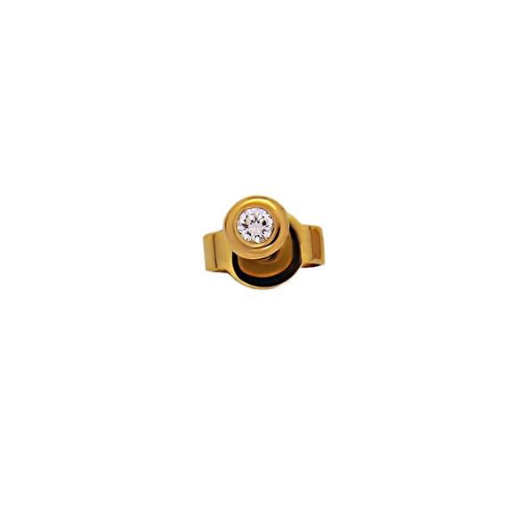 Серьги из жёлтого золота с бриллиантами из золота