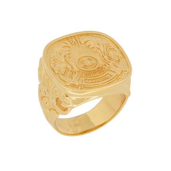 Кольцо мужское c казахским гербом