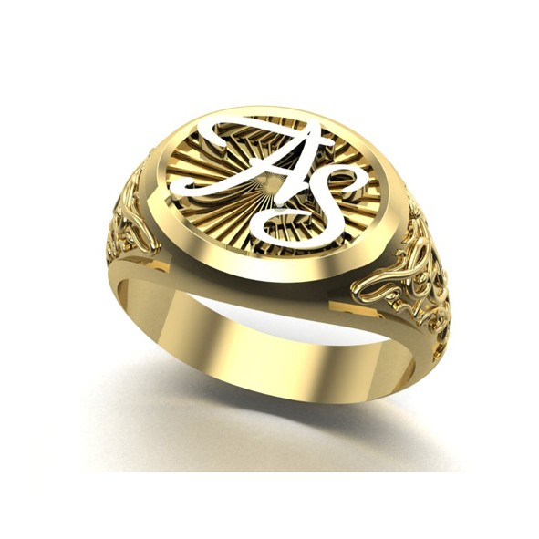 Initial Ring aus Gold