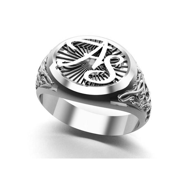 Кольцо мужское с инициалами