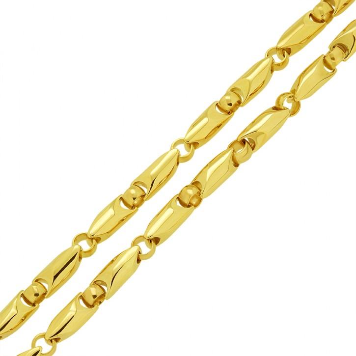 Phantasie-Kette, Massive Halskette aus Gold