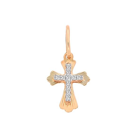 Крестик золотой русское золото