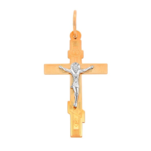 Крест нательный из русского золота 585