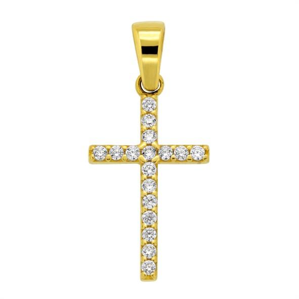 Крестик нательный из жёлтого золота 585