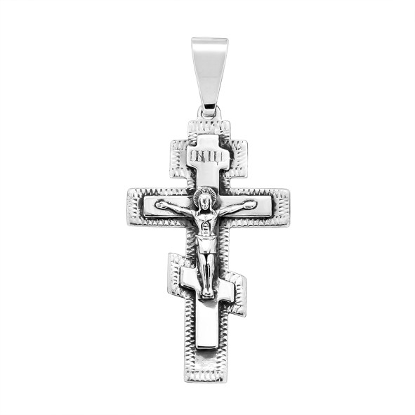 Крест православный из серебра 925